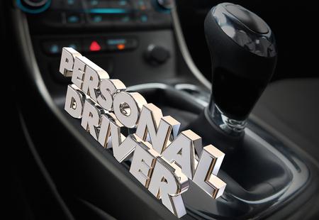 Personal Driver Chaufeur Car Gear Shift Service 3d Illustration