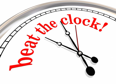 Beat the Clock Deadline Record Time 3d Illustration 스톡 콘텐츠