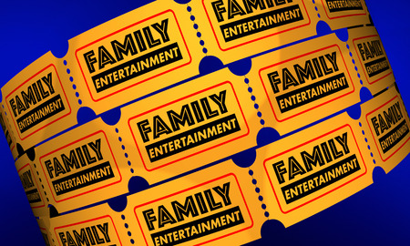 Family Entertainment Tickets Show Theatre 3d Illustration Reklamní fotografie