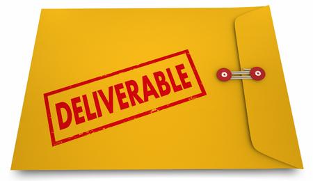 Deliverable Result Product Development Process Envelope 3d Illustration