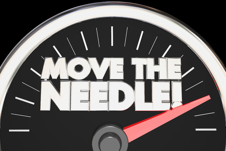 Move the Needle Speedometer Make Difference Change 3d Illustration