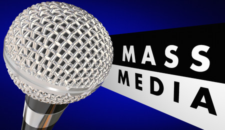 Mass Media Microphone Journalism Words 3d Illustration 版權商用圖片 - 80843981