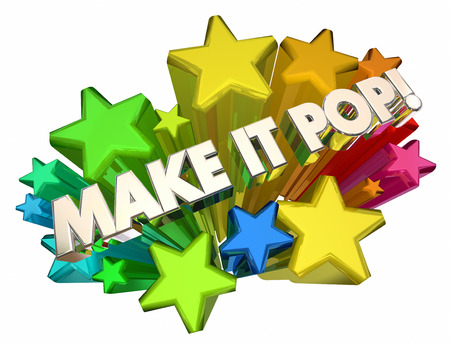 Make it Pop Stars Exciting Grab Attention 3d Illustration Stock Photo