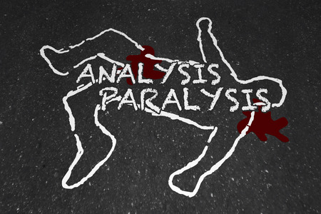 Analysis Paralysis Death by Overanalyzing Chalk Outline 3d Illustration