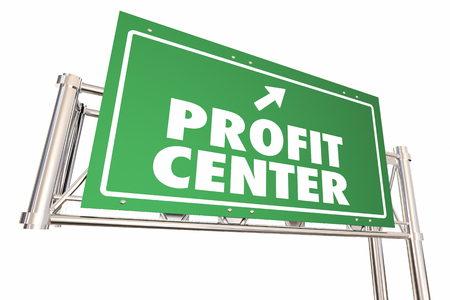 word: Profit Center Road Sign Increase Revenue New Business 3d Illustration Stock Photo