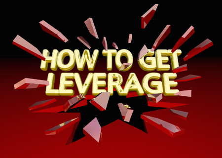 How to Get Leverage Power Advantage Breaking Glass 3d Illustration