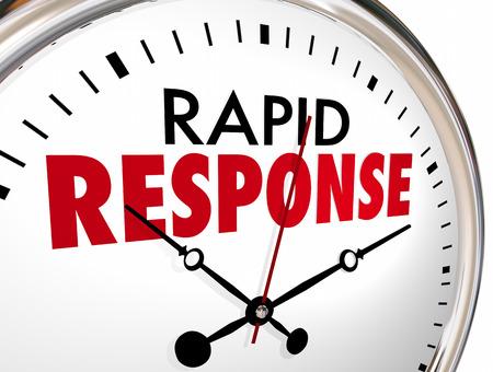 Rapid Response Clock Quick Fast Reaction 3d Illustration Stockfoto