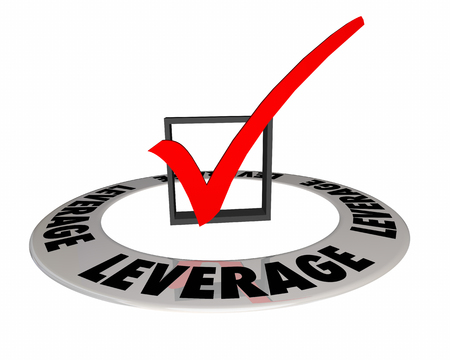 Leverage Check Box Mark Get Power Advantage 3d Illustration