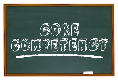 コア ・ コンピテンシー黒板トップ機能競争力のあるエッジの 3 d 図