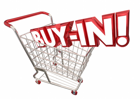 Buy In Shopping Cart Commitment Acceptance 3d Illustration Imagens - 80862716