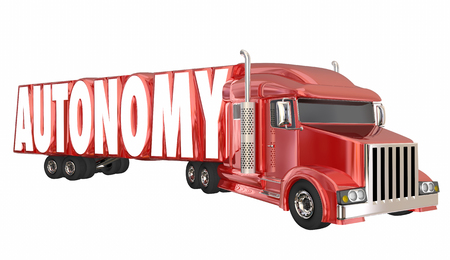 hauling: Autonomy Truck Self Driving Autonomous Transportation 3d Illustration