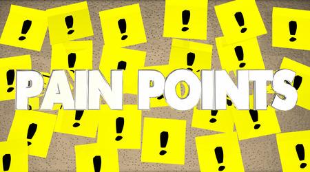 痛みのポイント付箋メモ問題問題を 3 d イラスト