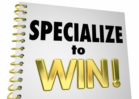 競争力優位性の専門知識を獲得する専門書籍の 3 d イラスト 写真素材