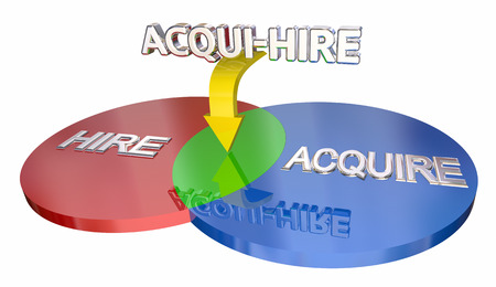 Acqui-Hire Acquire Hiring New Talent Staff Venn Diagram 3d Illustration.jpg