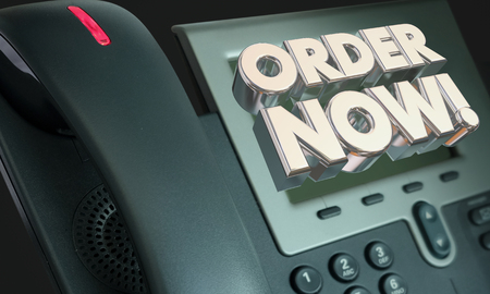 Order Now Telephone Buy Sell Customer Service 3d Illustration