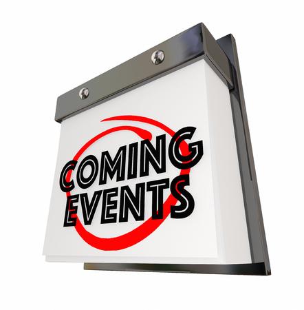 来るイベント カレンダー日日付今後すぐに 3 d のイラスト