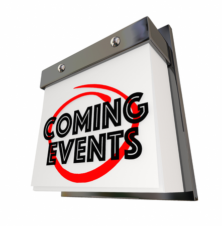 Coming Events Calendar Day Date Upcoming Soon 3d Illustration