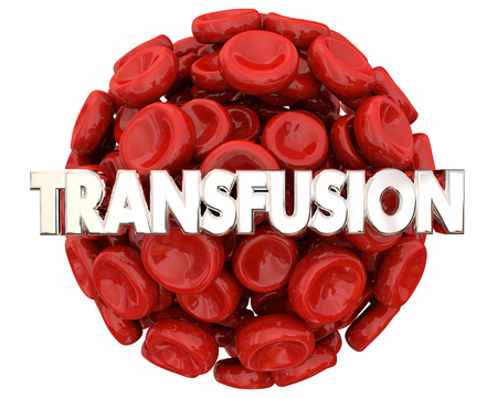Transfusion Blood Cells Ball Sphere Save Life Health Care 3d Illustration Stock Photo