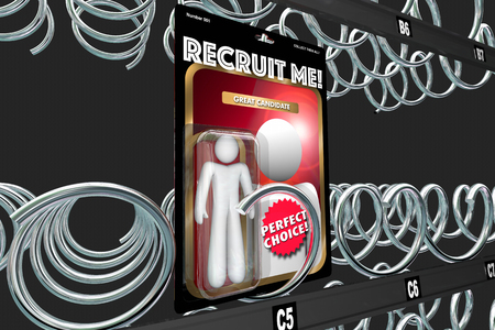 Recruit Me Job Candidate Employee Action Figure 3d Illustration