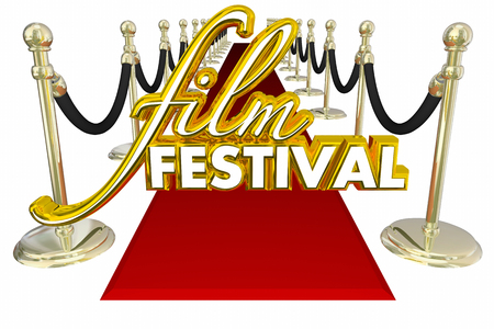 Film Festival Red Carpet Movie Premiere VIP Guest 3d Illustration