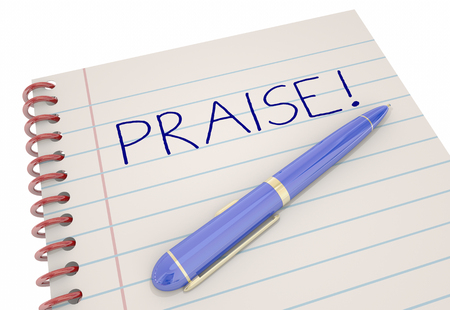 Praise Notebook Pen Compliment Recognition 3d Illustration
