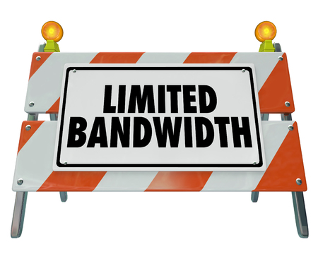 Limited Bandwidth Barrier Sign Blockade Construction 3d Illustration  Stock Photo