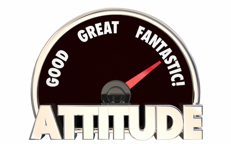 Attitude Good Great Fantastic Speedometer 3d Illustration Stock Photo