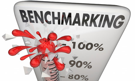 contrasting: Benchmarking Thermometer Measurement Comparison 3d Illustration