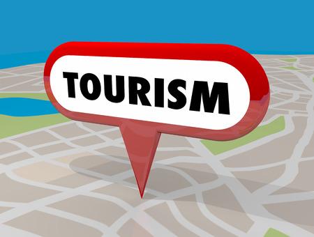 Tourism Map Pin Travel Location Destination 3d Illustration Stock fotó