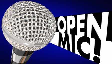 comedy: Open Mic Microphone Mike Night 3d Illustration