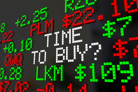 stockmarket: Time to Buy Stock Market Investment Timing 3d Illustration