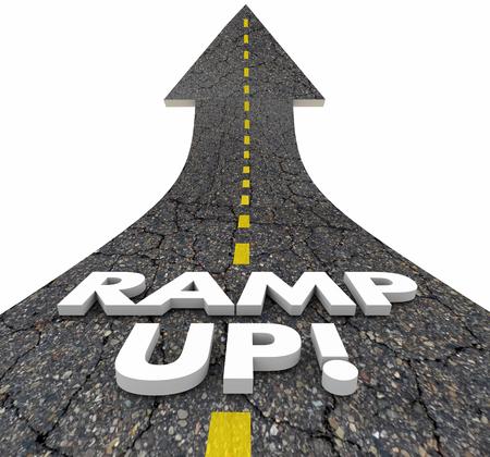 Ramp Up Increase Start Voorwaartse 3D Illustratie Stockfoto
