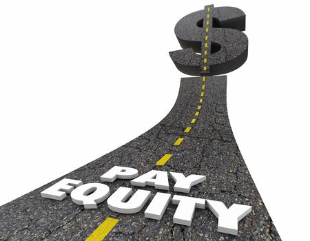 Betaal Aandelenweg Dollar Sign Work Equality 3d Illustration