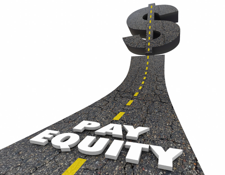 compensated: Pay Equity Road Dollar Sign Work Equality 3d Illustration