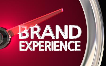 ブランドの経験計顧客満足度 3 d イラストレーション