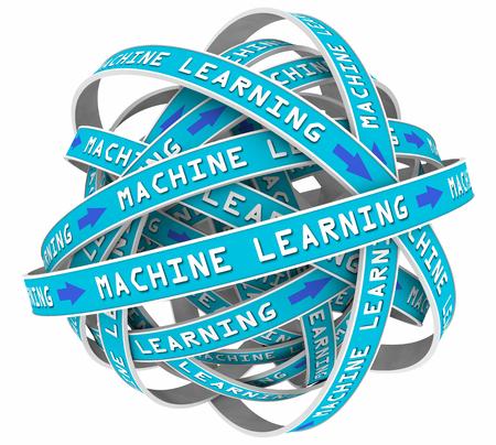 Processus d'apprentissage de la machine Loops Entrée AI Intelligence artificielle 3d Illustration Banque d'images - 81491187