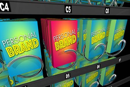 個人ブランド マーケティングのあなたのキャリア固有の評判 3 d イラストレーション 写真素材