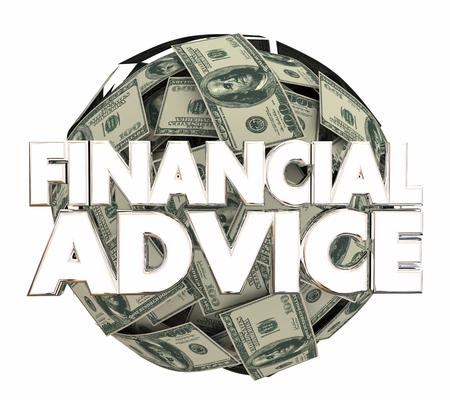 financial adviser: Financial Advice Money Service Investment Adviser 3d Illustration
