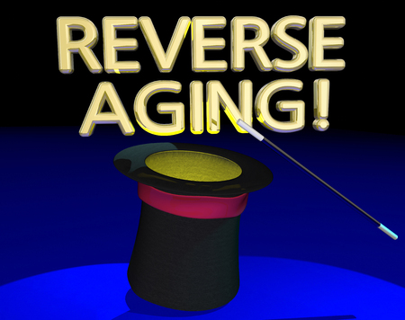 Reverse Aging Magic Hat Trick Wand Stop Getting Old 3d Illustration