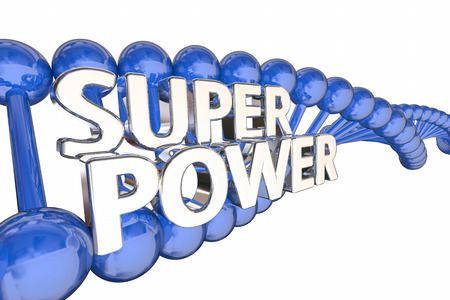 Super Power DNA Genes Genetics 3d Illustration