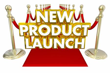 Nieuwe productlancering Rode Tapijt 3d Illustratie