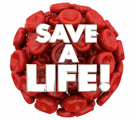 Save a Life Blood Donor Donation 3d Illustration Stock Photo