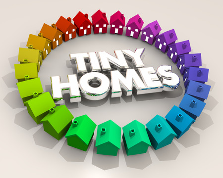 Tiny Homes Houses Small Downsizing 3d Illustration