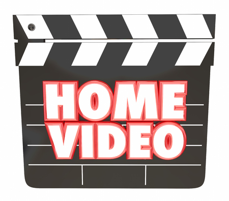 Home Video Movie Clapper 3d Illustration Stok Fotoğraf