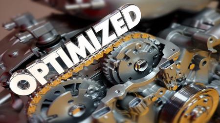 최적화 된 엔진 모터 전원 성능 3d 그림 스톡 콘텐츠
