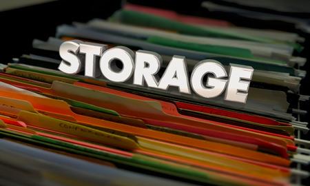 Storage File Folders Documents Archives 3d Illustration Stock Photo