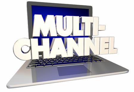 Multi-Channel Laptop Computer Platform 3d Illustration