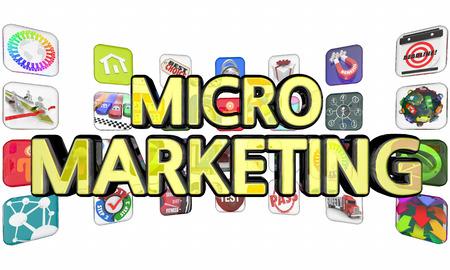 Micro Marketing Apps Programs 3d Illustration