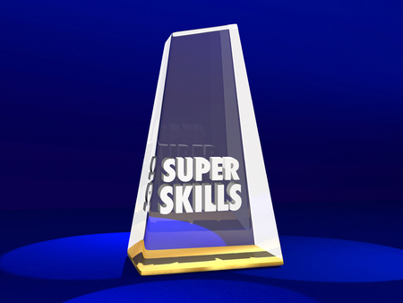 Super Skills Award Best Skilled Prize 3d Illustration Imagens