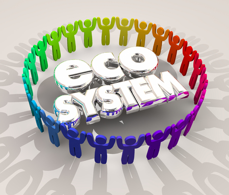 Ecosystem People Buyers Sellers Suppliers 3d Illustration